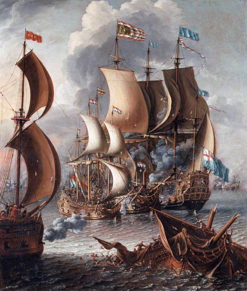 A Sea Fight with Barbary Corsairs